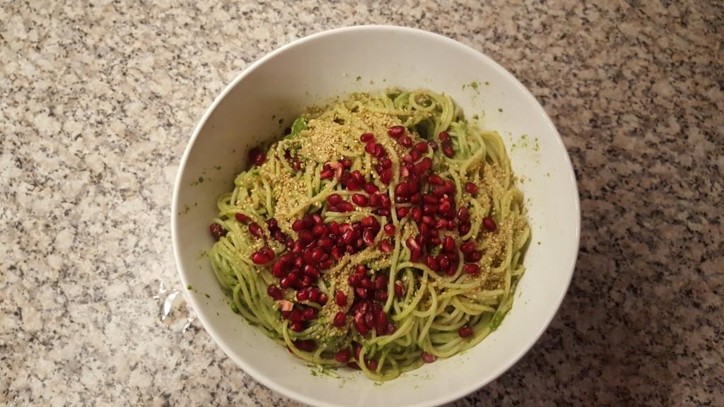 #vegan, #Granatapfelkerne; #Pasta, #Soulfood